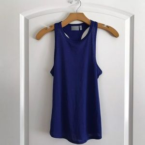 Athleta Blue Racerback Tank Top